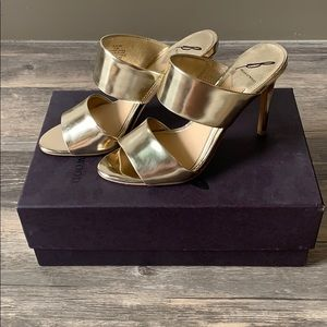 Brian Atwood Gold B-Pippa Heel